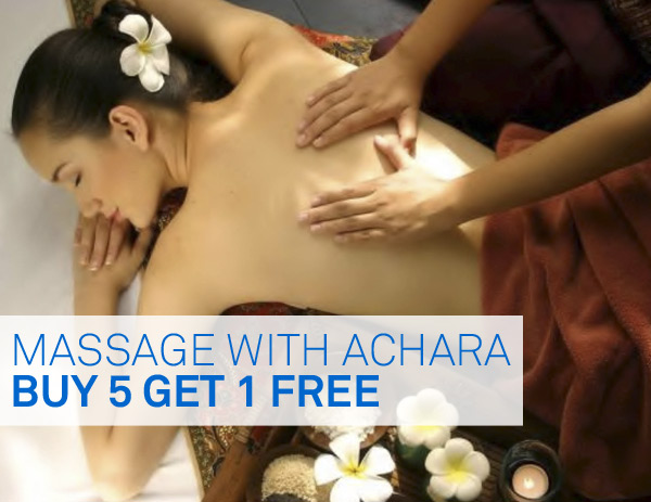 Buy 5 Get 1 Free Massage with Achara