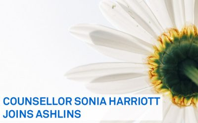 Counselling now available at Ashlins, with Sonia Harriott