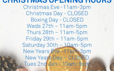 Christmas Opening Hours 2017