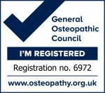 Sarah Oliver I'm Registered Osteopath Mark 6972